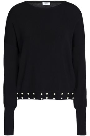 CLAUDIE PIERLOT Studded stretch-knit top