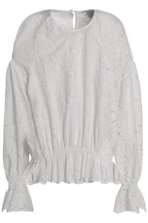 PERSEVERANCE Embroidered crepe top