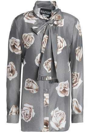BOUTIQUE MOSCHINO Floral-print silk shirt