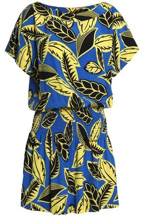 BOUTIQUE MOSCHINO Printed crepe mini dress