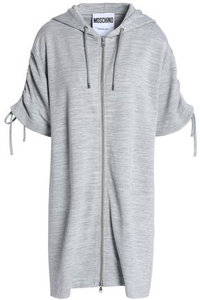 MOSCHINO Printed jersey hooded sweatshirt