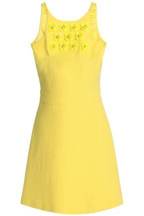 BOUTIQUE MOSCHINO Embellished cotton-blend jacquard mini dress