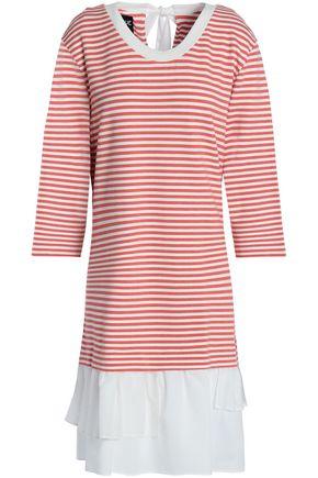 BOUTIQUE MOSCHINO Paneled striped jersey mini dress