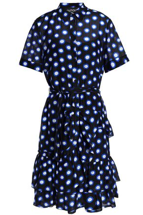 BOUTIQUE MOSCHINO Ruffled printed cotton dress