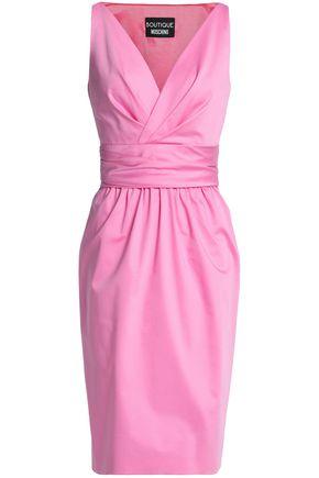 BOUTIQUE MOSCHINO Crossover cotton-poplin dress