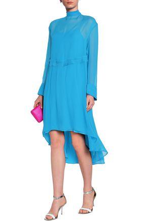 CEDRIC CHARLIER Asymmetric chiffon dress