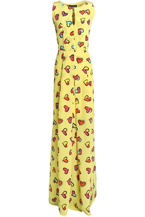 BOUTIQUE MOSCHINO Printed silk maxi dress