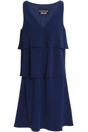 BOUTIQUE MOSCHINO Layered crepe de chine mini dress