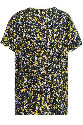CEDRIC CHARLIER Printed silk-faille blouse