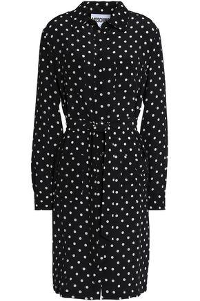 MOSCHINO Polka-dot silk-crepe shirt dress