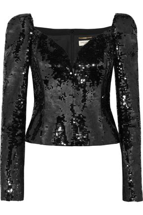SAINT LAURENT Sequined top
