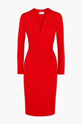 LANVIN Twist-front stretch-crepe dress
