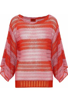 MISSONI Draped metallic crochet-knit top