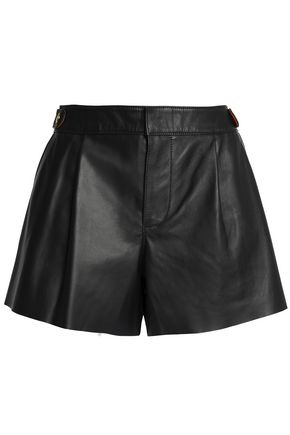 COACH Pleated leather shorts