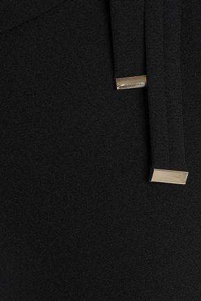 BADGLEY MISCHKA Tie-detailed crepe dress