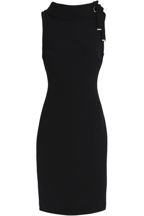 BADGLEY MISCHKA Tie-detailed crepe dress