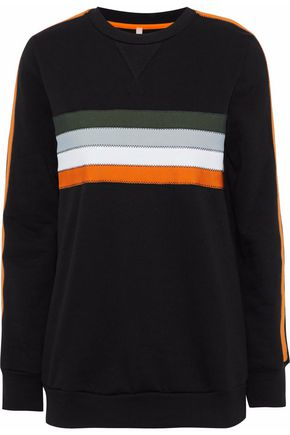 NO KA 'OI Noelani striped cotton-blend jersey sweatshirt
