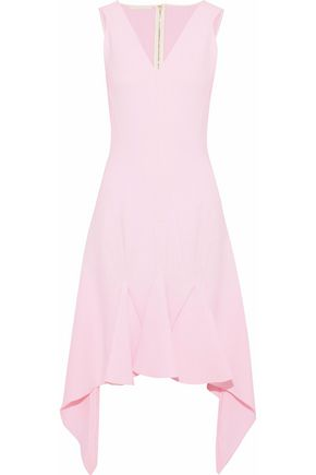 ANTONIO BERARDI Asymmetric pleated crepe dress