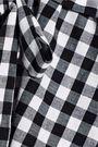 RAOUL Gingham poplin-paneled cotton-blend jersey top