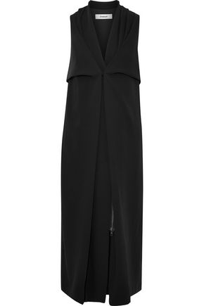 CHALAYAN Draped crepe de chine midi dress