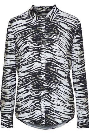 MAJESTIC FILATURES Zebra-print jersey shirt