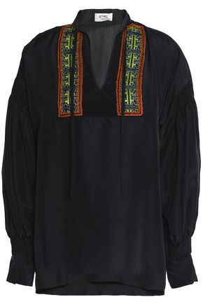 ETRO Embellished silk blouse