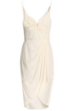 ZIMMERMANN Wrap-effect draped silk crepe de chine dress