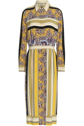 ETRO Printed silk crepe de chine midi shirt dress