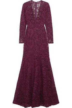 ZUHAIR MURAD Silk-blend lace gown