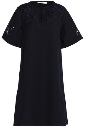 SEE BY CHLOÉ Cotton-blend piqué mini dress
