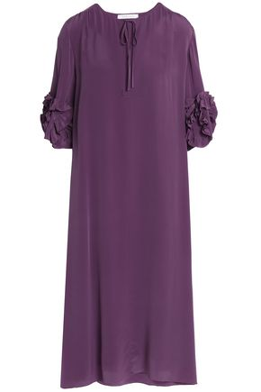 SEE BY CHLOÉ Ruffle-trimmed silk-crepe dress