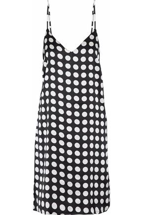 W118 by WALTER BAKER Effie cutout polka-dot satin dress
