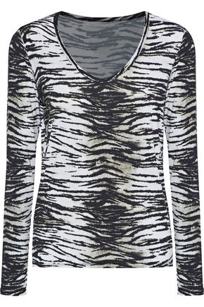 MAJESTIC FILATURES Printed jersey top