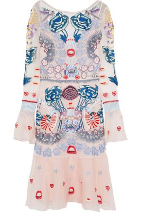 TEMPERLEY LONDON Porcelain embroidered tulle dress