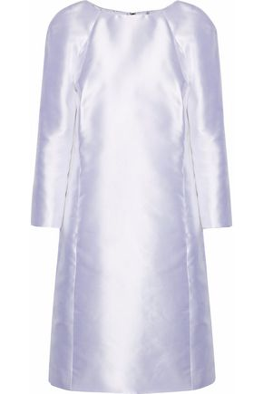 OSCAR DE LA RENTA Silk satin-twill dress