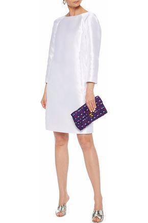OSCAR DE LA RENTA Silk satin-twill dress