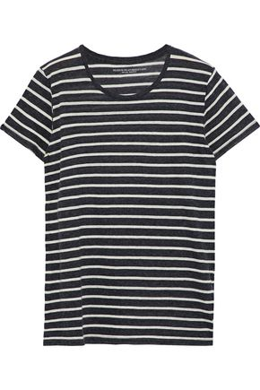 MAJESTIC FILATURES Striped cotton and cashmere-blend jersey T-shirt