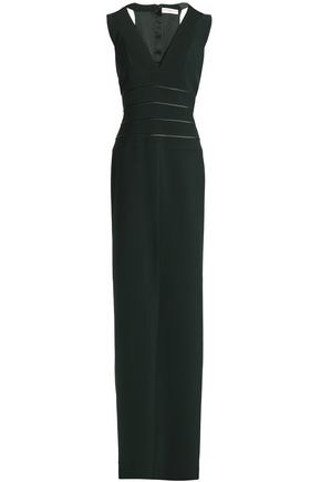 AMANDA WAKELEY Satin-trimmed ponte gown