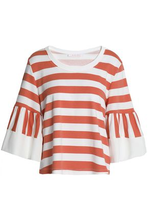SEE BY CHLOÉ Striped cotton-jersey top