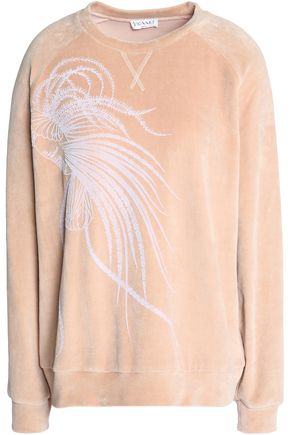 VIONNET Flocked cotton-blend chenille sweatshirt