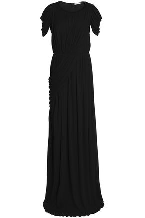VIONNET Draped pleated knitted gown