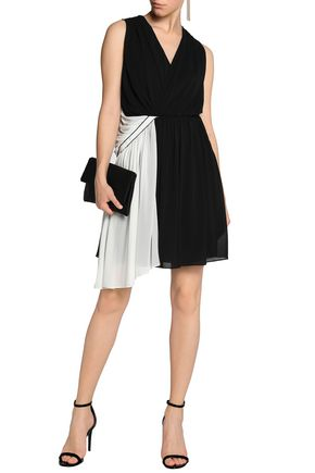 VIONNET Asymmetric draped stretch-jersey mini dress