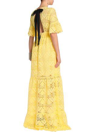 PERSEVERANCE Tie-back macramé lace gown