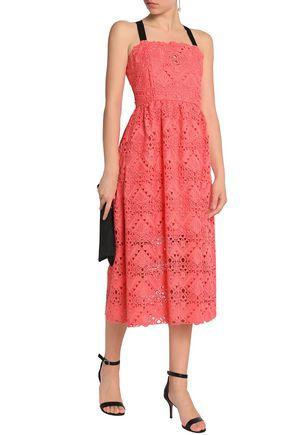 PERSEVERANCE Grosgrain-trimmed crocheted midi dress