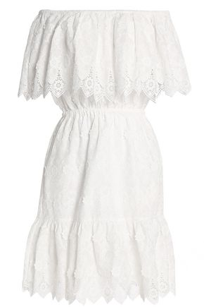 PERSEVERANCE Off-the-shoulder embroidered cotton dress
