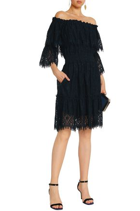 PERSEVERANCE Off-the-shoulder corded lace dress