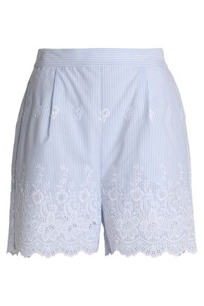 PERSEVERANCE Embroidered striped woven shorts