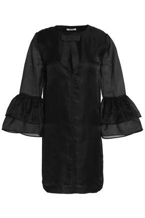 GANNI Silk-organza mini dress