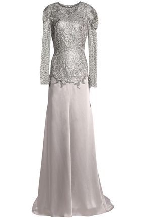 JENNY PACKHAM Embellished satin gown