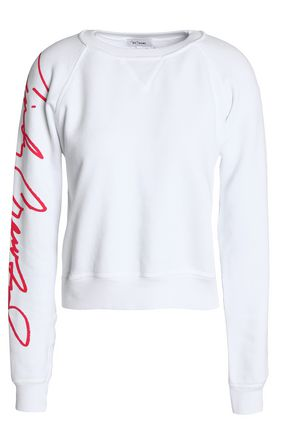 RE/DONE Printed French cotton-terry sweatshirt